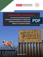 Informe Defensores Sin Muros 2019