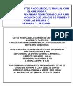 AHORRADOR DE GASOLINA