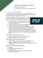 DEBATE Características Positivas en La Dimensión Política Educativa