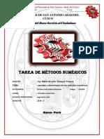 informe de metodos numericos