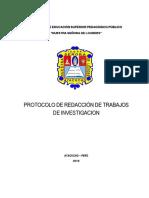 Protocolo de Redaccion