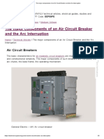 The Major Components of an Air Circuit Breaker and the Arc Interruption