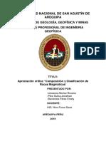 Composicion y Clasificacion de Rocas Magmaticas