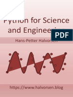 Python for Science and Engineering