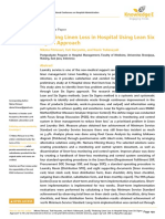 Reducing Linen Loss in Hospital Using Lean Six Sigma Approach