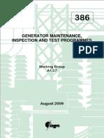 Generator Maintenance Inspection Test Programmes