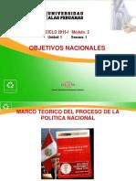 SEMANA 1-B Objetivos Nacionales