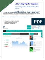 Basic Market Investing Tips for Beginners