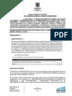RESPUESTA OBSERVACIONES PLIEGO DE CONDICIONES