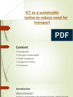 ICT as a sustainable alternative to reduce need for transport.pptx