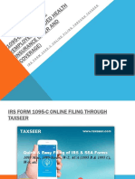 IRS Form 1095-C Online Filing through Taxseer