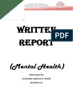 Written Report on Mental Health.pdf