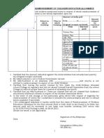 Proforma of Reimbursement of Tution Fees