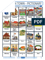 Places in Town Picture Dictionaries 7852