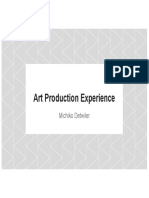 art production experience