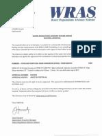WRAS certificate EPDM