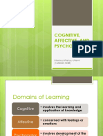COGNITIVE, AFFECTIVE, AND PSYCHOMOTOR