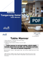 Table Manners by Allium Tangerang Hotel