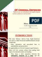 Law of Criminal Defences