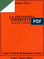 Costanzo Preve - La Filosofia Imperfetta (PDF 1984)