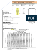 Spreadsheet for Design of Concrete Pipes