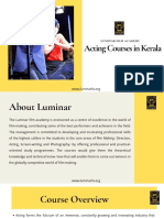Acting Courses in Kerala | Luminar Film Academy