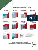 Egutegia Zubiaur 2019-2020