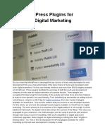 Best WordPress Plugins for Improved Digital Marketing