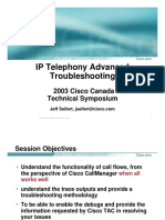 IP Telephony Advanced Topics and Troubleshooting