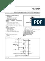 Datasheet TDA7375A