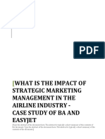 Impact of strategic marketing management on Airline Industry ( BA AND EASYJET).docx