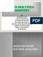 Green Chemistry in Analytical