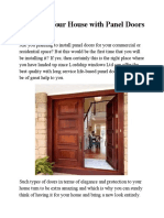 Redesign Your House With Panel Doors