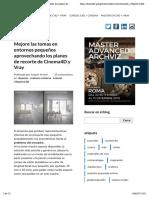 02-Mejore las tomas en entornos pequeños explotando los planes de recorte de Cinema4D y Vray | Angelo ferretti