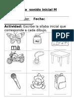 Guía sílaba inicial M