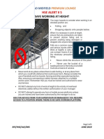 HSE ALERT NO. 5-Safe Working at Height