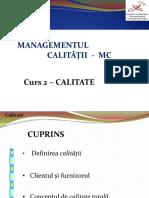 MC Curs 2 Calitate