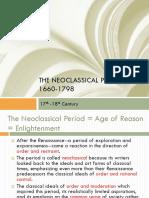 English- Neoclassical Period