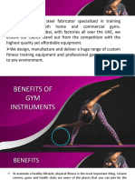 Benefits of gym instruments
