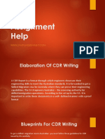 CDR Assignment Help