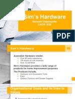Sim's Hardware Presentation
