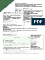 QMS202 Exam Crib Sheet