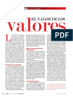 EL VALOR DE LOS VALORES