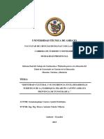 IDENTIDAD CULTURAL Y SU INCIDENCIA EN EL DESARROLLO TURÍSTICO DE LA PARROQUIA PILAHUÍN CANTÓN AMB