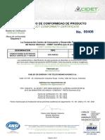 Certificado 00406 Cables TW THW y THHN THWN 2