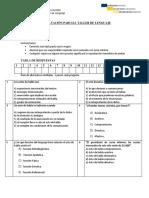 EVALUACIÓN PARCIAL TALLER DE LENGUAJE ACTOS DE HABLA CON SOLUCIONARIO