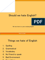 Should we hate English