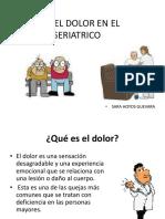 Manejo Del Dolor en El Paciente Geriatrico