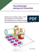Fragenkatalog Mit Antworten - Pharmakologie