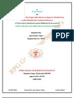 19724541 Spencers Retail Ltd Project Report Summer Internship Project